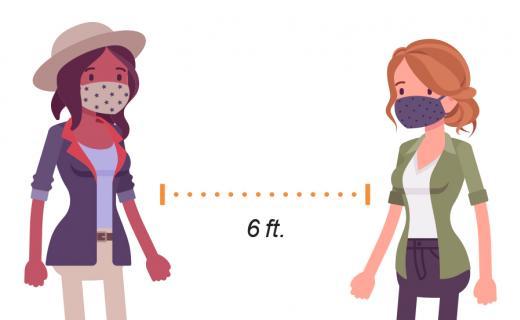 girls social distance