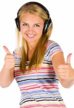 A Woman Listening to Lots of Music