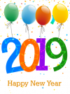 2019 with balloons