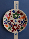 Paper plate new year's ball craft
