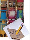 Paper towel roll nutcracker and cardboard dreidel crafts