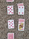 playing cards on the floor