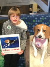 Reader and Maggie the beagle
