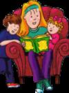teen reading to children