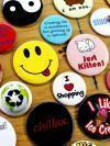 assorted button pins
