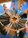 kids in a yoga circle