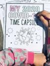 Picture of child coloring a time capsule cover
