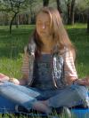 girl yoga pose